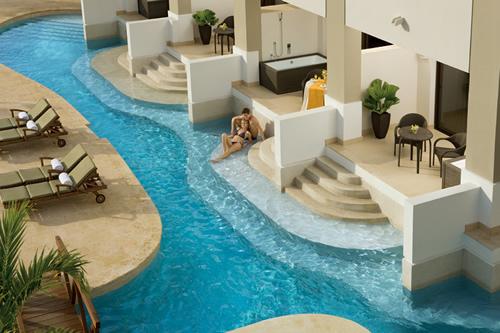 acesso direto às piscinas Hotel Secrets Wild Orchid Montego Bay