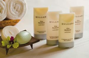 artigos de higiene da marca Bvlgari no Zoëtry Agua Punta Cana