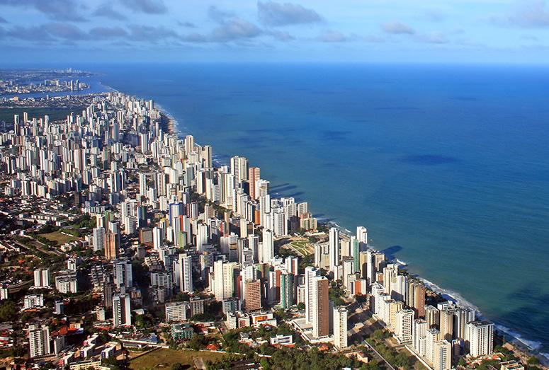 Recife vista do alto