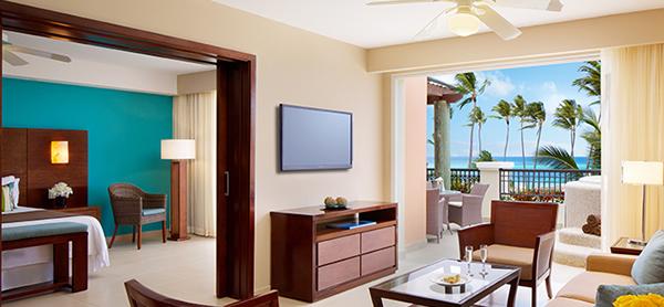 Elegantes quartos com vistas incríveis
